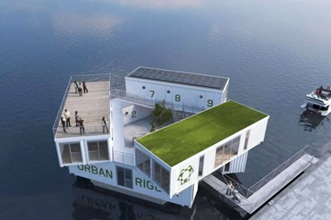 Urban Rigger House In Water (1)