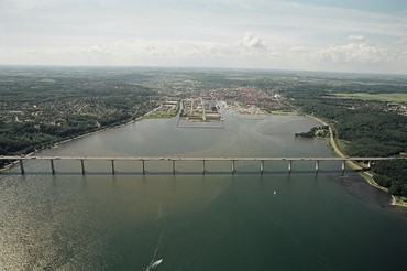 Vejle Harbour Seen From Waterside Aerial